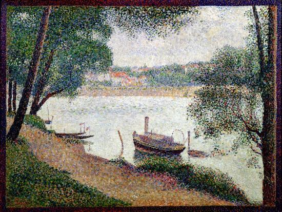 georges-seurat-river-landscape-with-a-boat