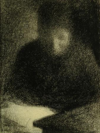 georges-seurat-woman-reading