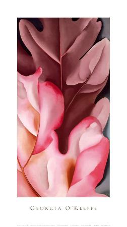 georgia-o-keeffe-oak-leaves-pink-gray-1929