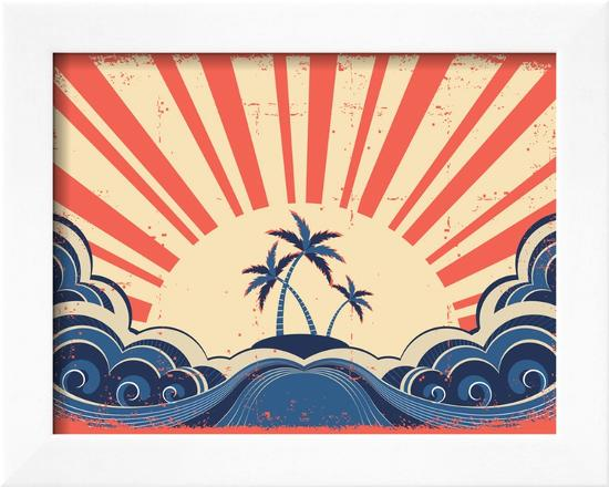 geraktv-paradise-island-on-grunge-paper-background-with-sun
