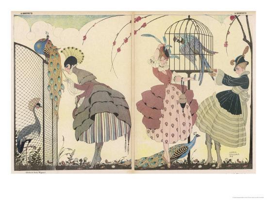 gerda-wegener-satire-on-the-current-peacock-modes