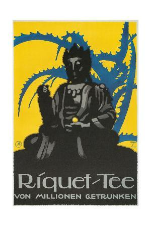 german-advertisement-for-riquet-tea-buddha-and-thorn-bush