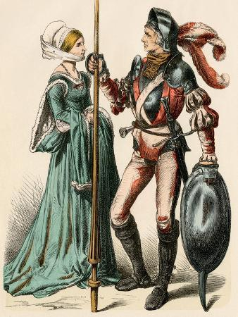 german-woman-and-a-man-wearing-armor-of-the-early-1500s