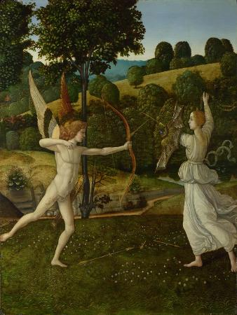 gherardo-di-giovanni-del-fora-the-combat-of-love-and-chastity-between-1475-and-1500