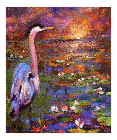 ginette-callaway-okefenokee-sunset-georgia-blue-heron