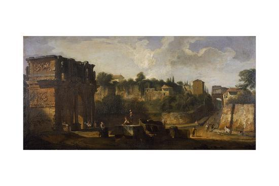 giovani-paolo-panini-a-view-of-the-arches-of-constantine-and-of-titus-rome