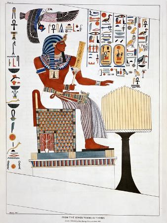 giovanni-battista-belzoni-mural-from-the-kings-tombs-in-thebes-1820