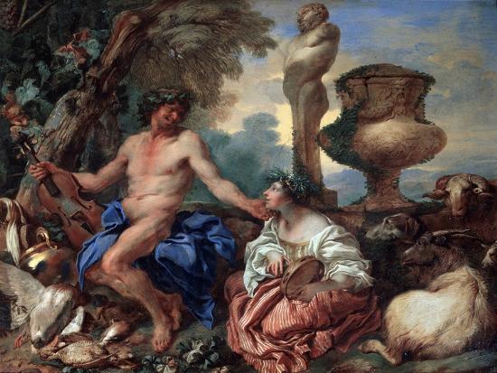 giovanni-benedetto-castiglione-pastoral-scene-faun-and-shepherdess-1650s