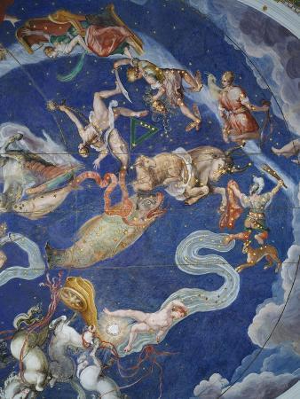 giovanni-de-vecchi-astrological-ceiling-in-the-sala-del-mappamondo
