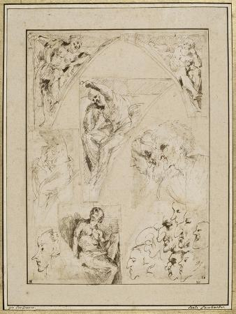 giovanni-lanfranco-leaf-study-of-figures-in-the-spandrels-and-cartoons