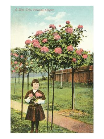 girl-standing-by-rose-trees-portland-oregon