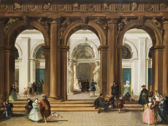 giuseppe-bernardino-bison-the-entrance-to-the-biblioteca-marciana-venice