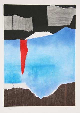 giuseppi-santomaso-brown-blue-black-abstract