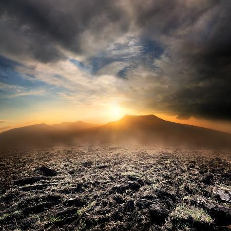 givaga-plowed-field-in-the-mountains-at-sunset