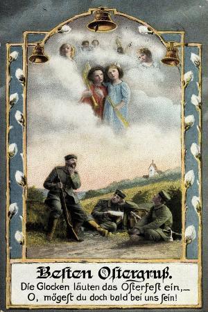 glueckwunsch-ostern-soldaten-beim-traeumen-engel
