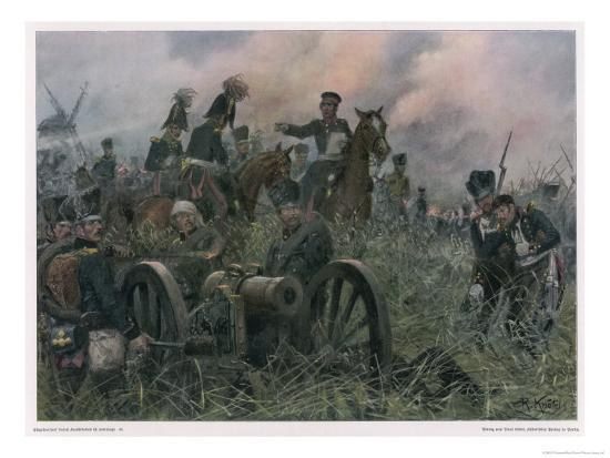 gneisenau-at-the-battle-of-ligny-where-napoleon-defeats-blucher-s-prussians