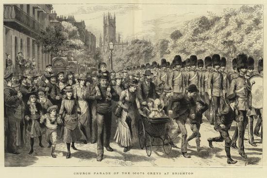 godefroy-durand-church-parade-of-the-scots-greys-at-brighton