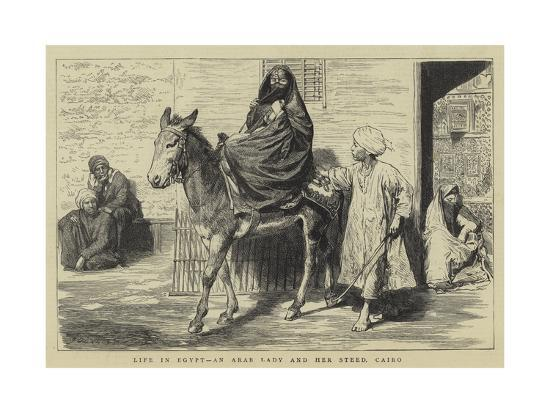 godefroy-durand-life-in-egypt-an-arab-lady-and-her-steed-cairo