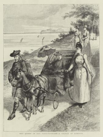 godefroy-durand-the-queen-in-her-pony-carriage-a-sketch-at-osborne