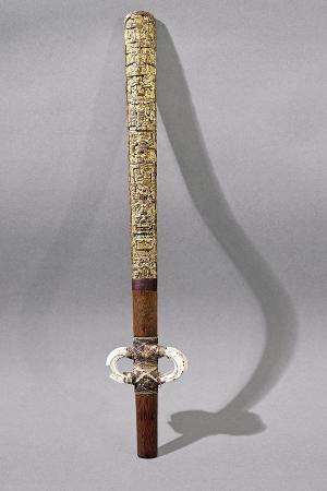 gold-leaf-on-wood-javelin-thrower