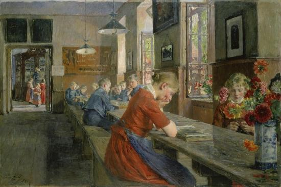 gotthard-kuehl-in-an-orphanage-luebeck-1894