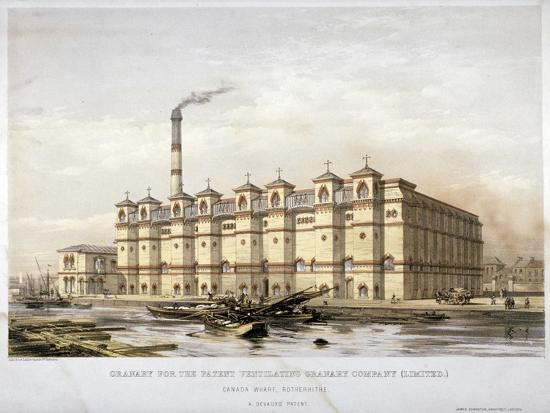 granary-on-canada-wharf-rotherhithe-london-c1860