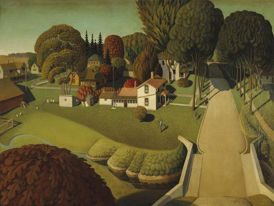 grant-wood-the-birthplace-of-herbert-hoover-west-branch-iowa-1931