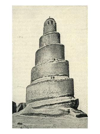great-mosque-of-samarra-iraq-with-its-spiral-minaret-or-malwiyah-built-in-847