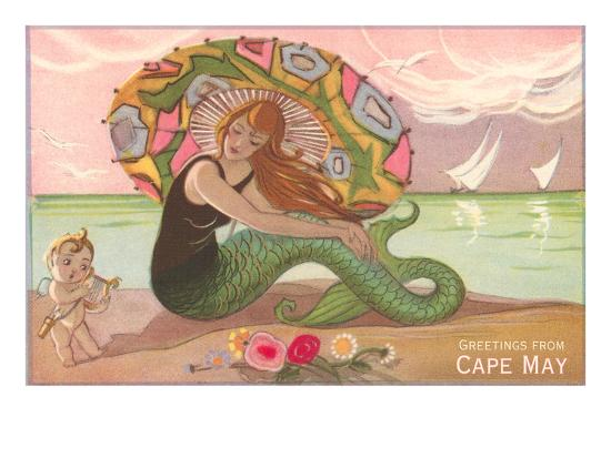 greetings-from-cape-may-new-jersey-mermaid-with-cherub