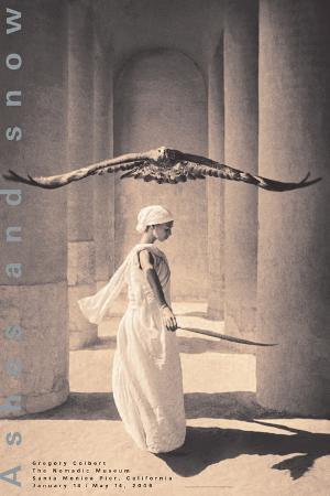 gregory-colbert-eagle-with-dancer-santa-monica