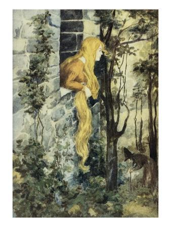 grimm-s-fairy-tales-book-with-rapunzel-in-her-tower