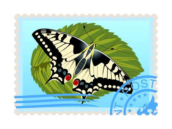 guarding-owo-postage-stamp-with-a-butterfly