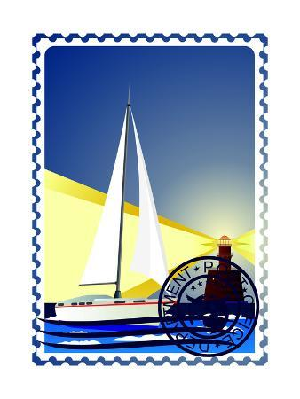 guarding-owo-postage-stamp-yacht-at-sea-and-the-lighthouse