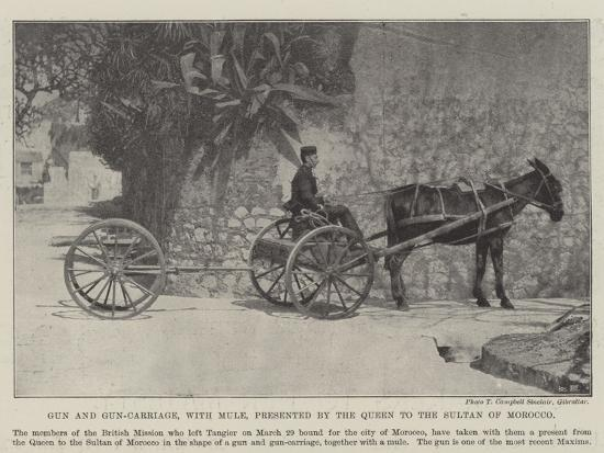 gun-and-gun-carriage-with-mule-presented-by-the-queen-to-the-sultan-of-morocco