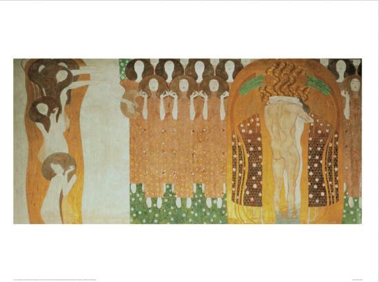 Beethoven Frieze Art Print by Gustav Klimt at Art.com