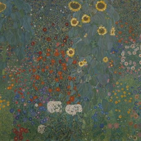 gustav-klimt-farm-garden-with-sunflowers-1905-06