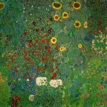 gustav-klimt-farm-garden-with-sunflowers-c-1912