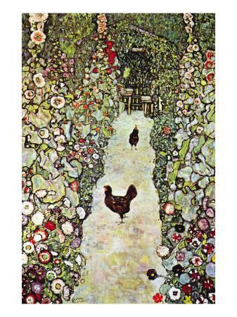 gustav-klimt-garden-path-with-chickens