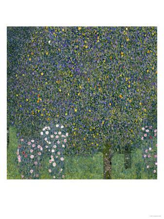 gustav-klimt-rose-bushes-under-trees-c-1905