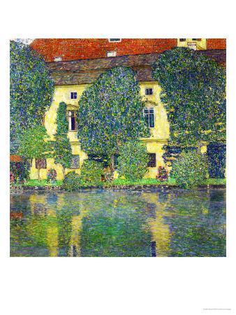 gustav-klimt-schloss-kammer-am-attersee-iii-wasserschloss-1910