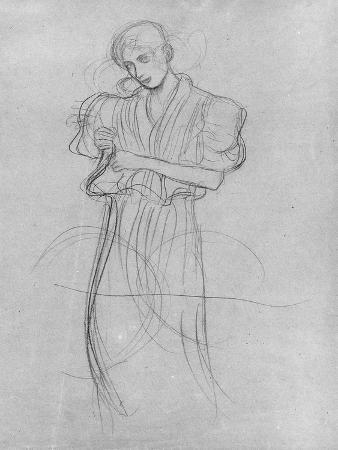 gustav-klimt-standing-robed-woman-1903