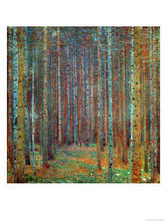 gustav-klimt-tannenwald-pine-forest-1902
