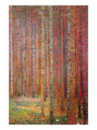 gustav-klimt-tannenwald