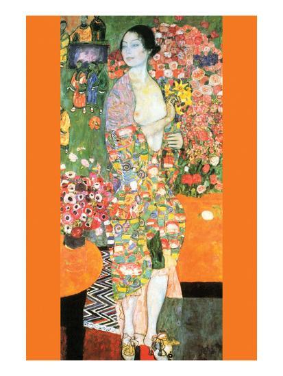 The Dancer by Gustav Klimt Fine Art Print Poster Paper