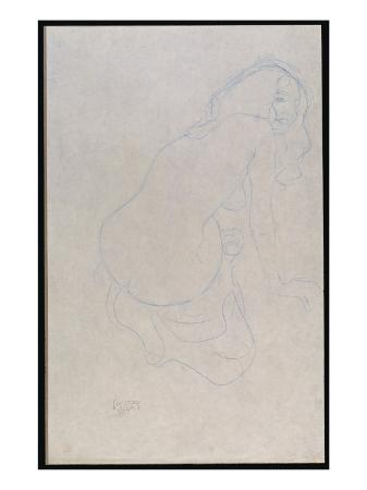 gustav-klimt-woman-leaning-to-the-right-with-long-hair-c-1910-11