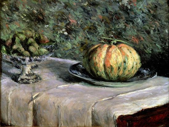 gustave-caillebotte-melon-and-fruit-bowl-with-figs-1880-82