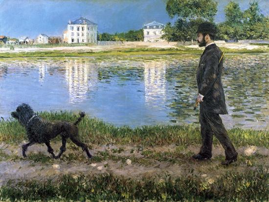 gustave-caillebotte-richard-gallo-and-his-dog-at-petit-gennevilliers-c1883-1884
