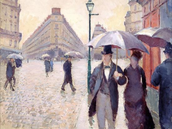 gustave-caillebotte-sketch-for-paris-street-rainy-day-1877