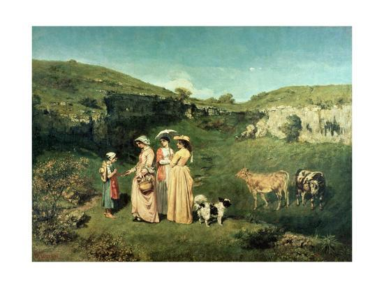 gustave-courbet-young-women-of-the-village-giving-alms-to-a-cowherd-1852