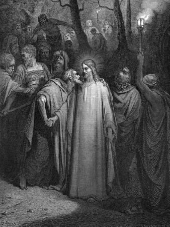 gustave-dore-judas-betraying-christ-with-a-kiss-1866